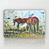 Abstract Horses In Paddo… Laptop & iPad Skin