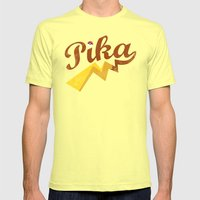 Pika Mens Fitted Tee Lemon SMALL