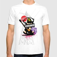 Censored Sexy Lady With … Mens Fitted Tee White SMALL