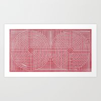 Robotic Boobs Red Art Print