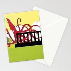 Giant Squid Attacks Edinburgh's Acropolis Stationery Cards