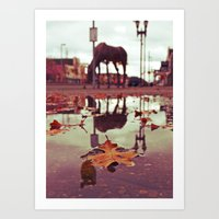 Roadside water Art Print