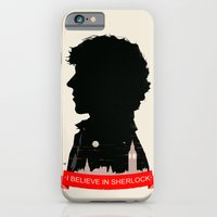 sherlock iPhone & iPod Cases featuring Sherlock by Duke Dastardly