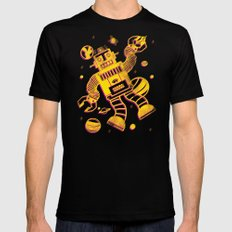 Cosmo Robot Black SMALL Mens Fitted Tee