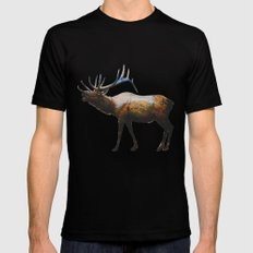 The Rocky Mountain Elk Black SMALL Mens Fitted Tee
