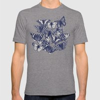 butterfly mint Mens Fitted Tee Tri-Grey SMALL