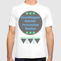 Grasshopper Suicide Prev… Mens Fitted Tee White SMALL