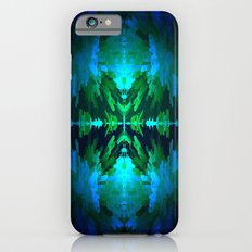 Blue columns in Abstract iPhone 6s Slim Case