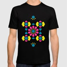 Arabesque CMYK Mens Fitted Tee Black SMALL