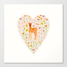 Fawn Valentine Canvas Print