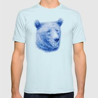 Brown bear is blue Mens Fitted Tee Light Blue SMALL