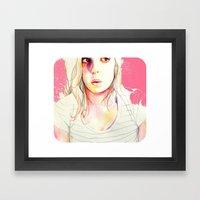 sara watercolor Framed Art Print