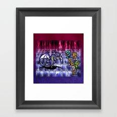 Final Fantasy Bahamut Battle  Framed Art Print