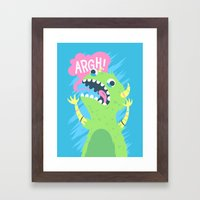 One Of Those Days Framed Art Print