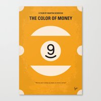 No089 My The color of money minimal movie poster Canvas Print