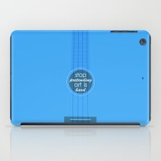 Stop pretending art is hard (blue) iPad Case