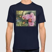 Orchid Beauty Mens Fitted Tee Navy SMALL
