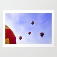 A Ride In The Sky - Hot … Art Print