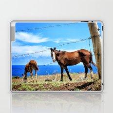 Horses against a blue sky Laptop & iPad Skin