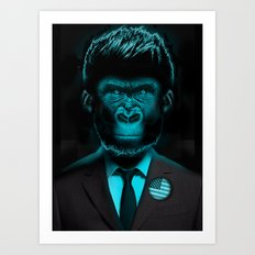 Monkey Suit II Art Print