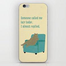 Lazy Cat iPhone & iPod Skin