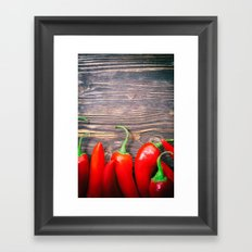 Red Hot Peppers Framed Art Print