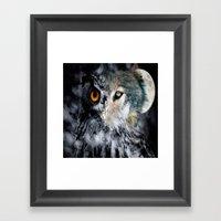 Owl Wolf Framed Art Print