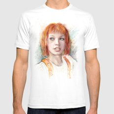 Leeloo SMALL White Mens Fitted Tee
