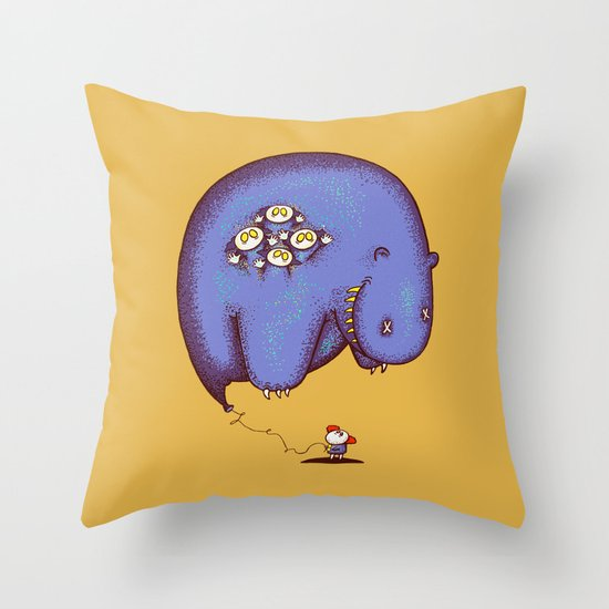 Globophobia Throw Pillow