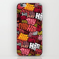 Play/Hate Pattern iPhone & iPod Skin