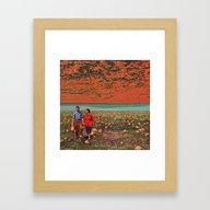 Flowers In The Sky Framed Art Print