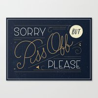 Politely Pissy Canvas Print