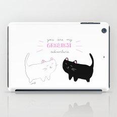 white cat - black cat moonrise kingdom quote iPad Case