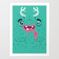 I Scream Monster Art Print