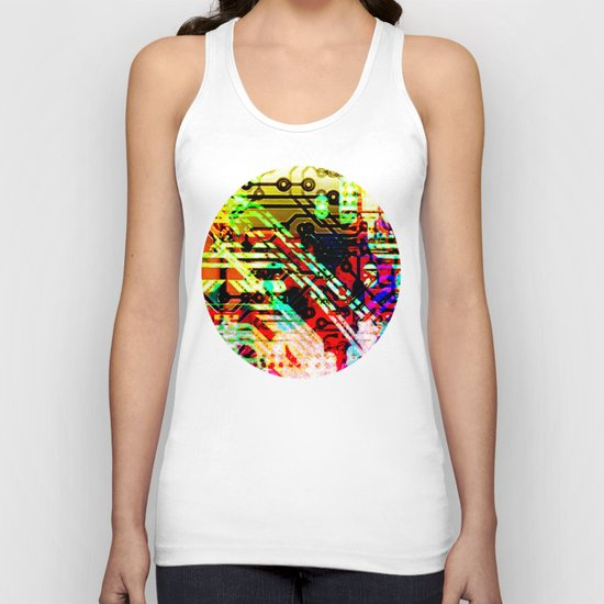 Color circuit Unisex Tank Top