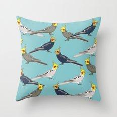 Cockatiels Throw Pillow
