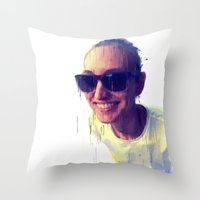 Fantasy Portrait Throw Pillow