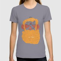 Der Bart Womens Fitted Tee Slate SMALL