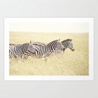 Trois::kenya Art Print