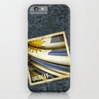 Grunge sticker of Uruguay flag iPhone 6 Slim Case