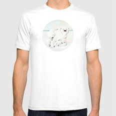 Polar Bears White Mens Fitted Tee SMALL
