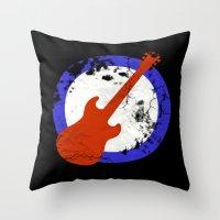 Guitar Mod Throw Pillow