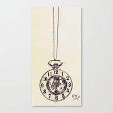 Ballpoint Pen, Half Hunter Pocket Watch Canvas Print