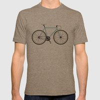 Classic Road Bike Mens Fitted Tee Tri-Coffee SMALL