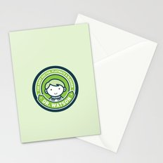 Cute John Watson - Green Stationery Cards