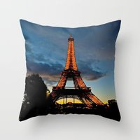 Lighting The Tower Throw Pillow