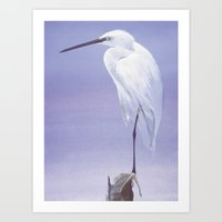 Purple Crane Art Print
