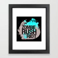Zombie Rush: Riot Framed Art Print