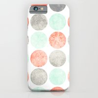 Circles (Mint, Coral & Gray) iPhone 6 Slim Case