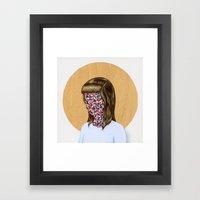6x6 Woman Framed Art Print